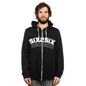 Image of SIX2SIX ZIP HOODIE (WHITE AND BLACK)