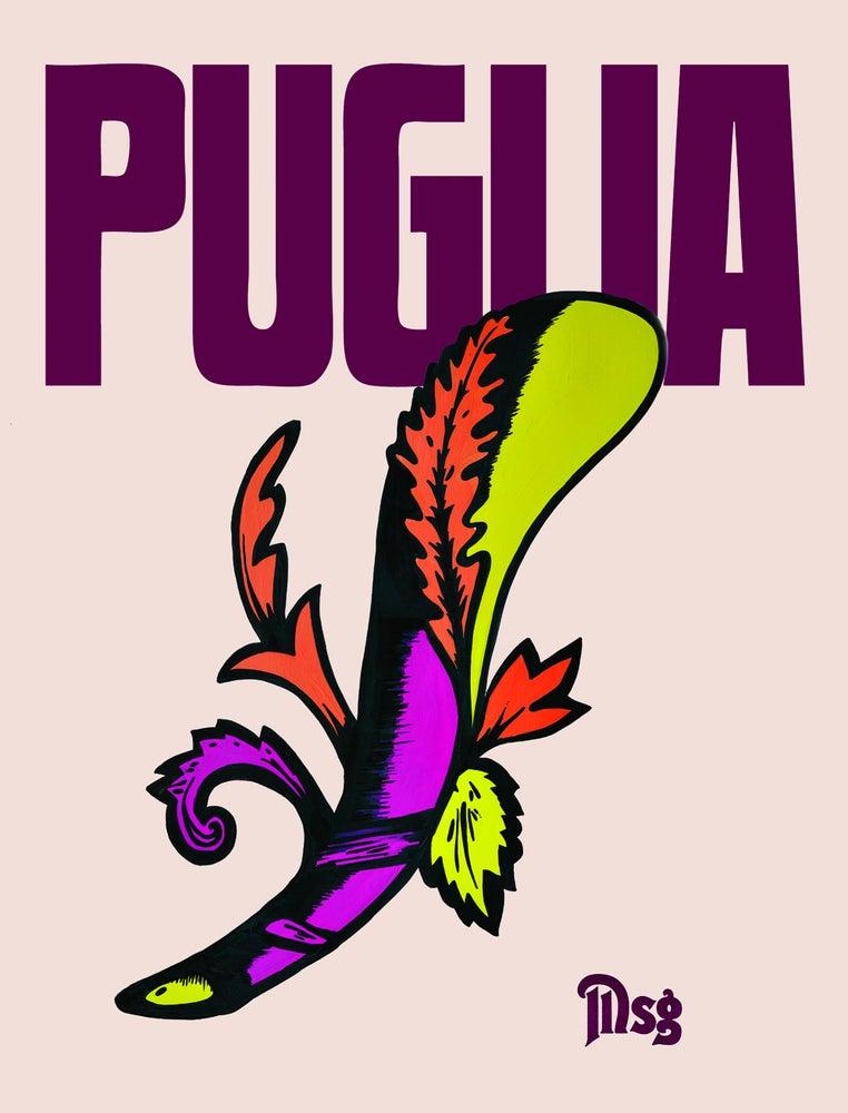 Image of Puglia -Beige/Burgundy