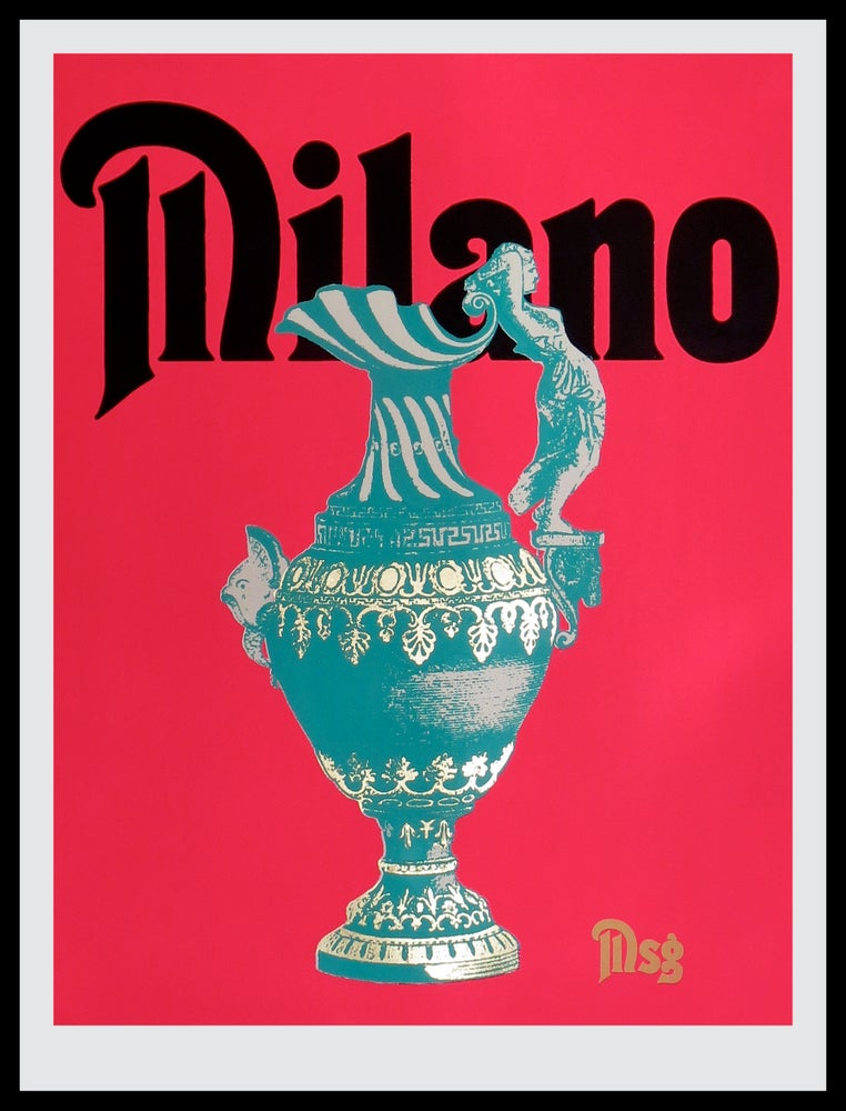 Image of Milano -Urn-Hot Pink/Black/Aqua