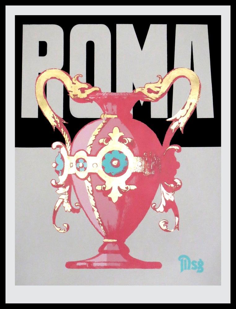 Image of Roma -Urn-Black/White/Pink