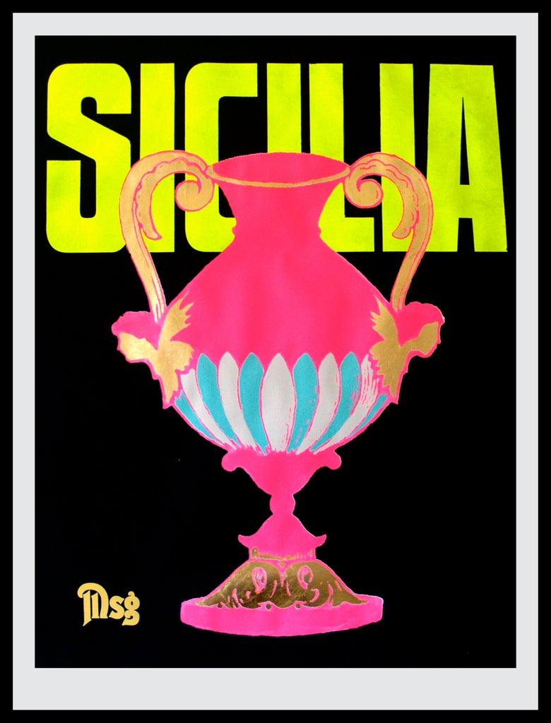 Image of Sicilia -Urn-Black/Hot Pink/Volt