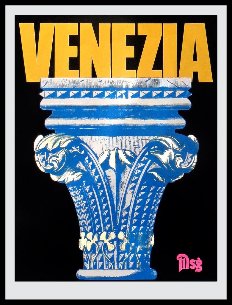 Image of Venezia -Column-Black/Yellow/Blue