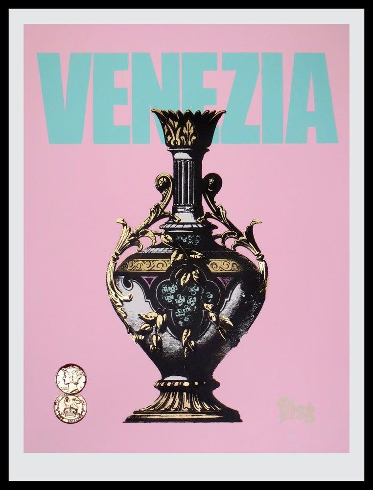 Image of Venezia -Urn-Pastel Pink/Aqua