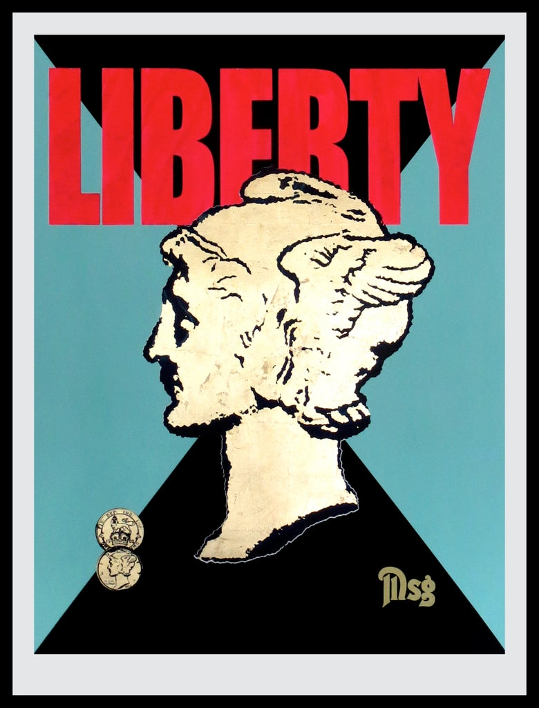 Image of Liberty -Black/Aqua/Hot Pink/Gold