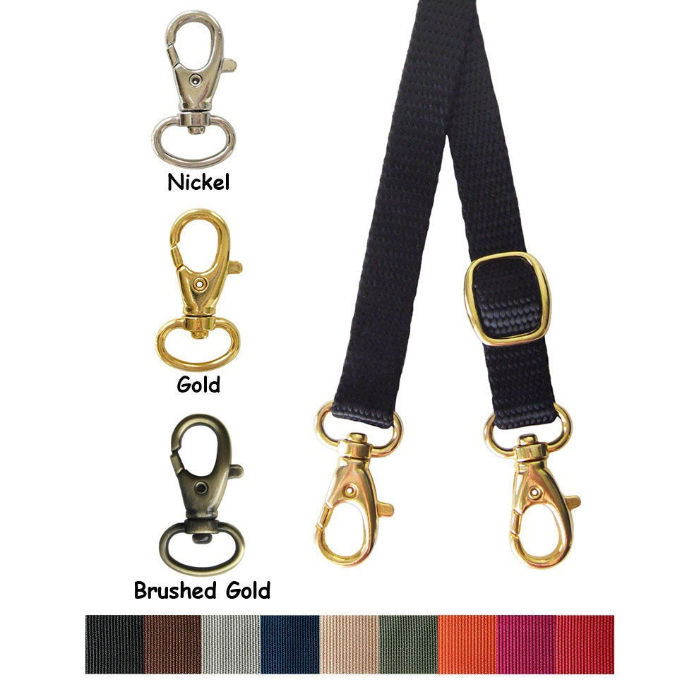 "Image of Nylon Webbing Petite Strap - Adjustable - 0.5"" (half-inch) Wide - Choice of Color, Length & Hook #8"