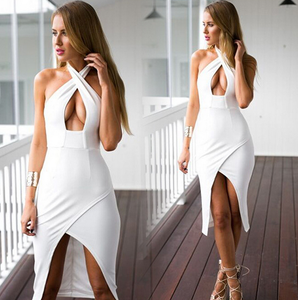 Image of HOT CROSS FORK SEXY DRESS