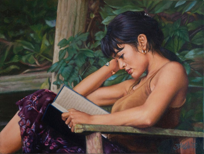 "Image of Bill White - Jenny Reading 12""H x 16""W"