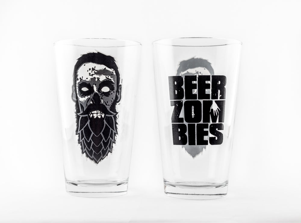 Image of Beer Zombies Pint Glass