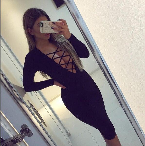 Image of Cute long sleeve cross dress