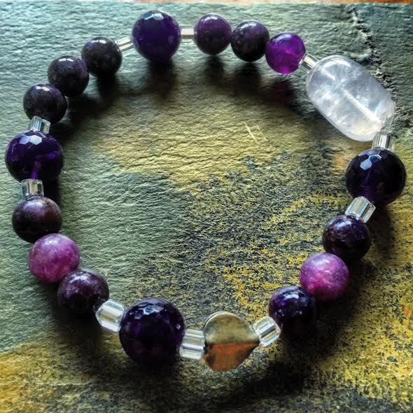 Image of Awakening and Deep Emotional Healing with Lepidolite and Amethyst and Rose Quartz