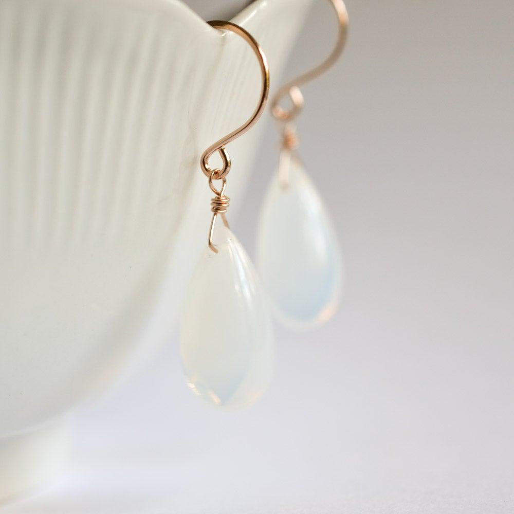 Image of Opalite glass earrings, medium
