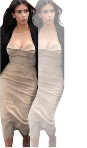 Image of HOT STRAPLESS CUTE DRESS  FASHION STYLE