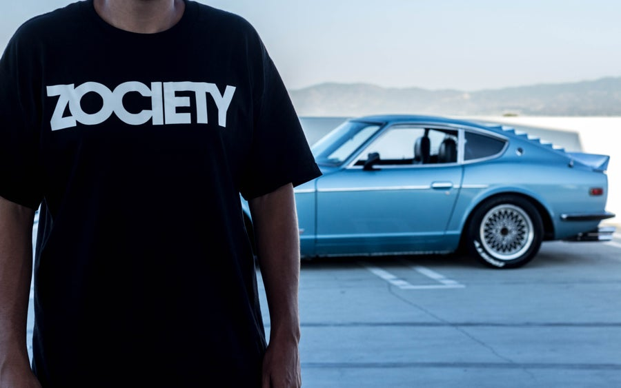 Image of ZOCIETY V1 Logo Shirt + ZOCIETY Side Window Decal Care Package