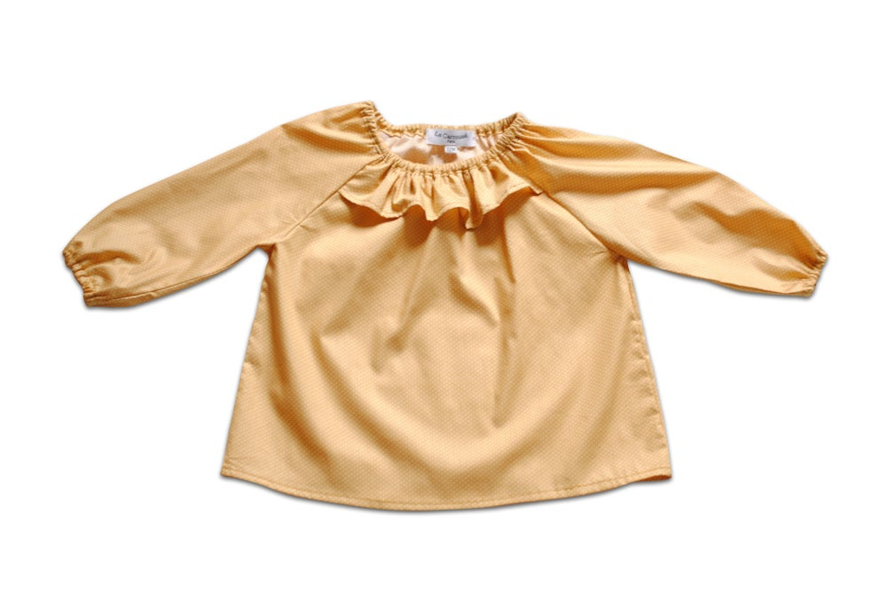 Image of - SOLDEE -50% - Blouse Albi moutarde ou fleurs roses