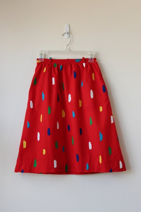 Image of SOLD Strokes Of Art Skirt