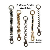 Image of All-in-one Accessory: Strap Extender / Key Fob Bag Tether / Chain Wristlet / Key Chain / #18B Hook
