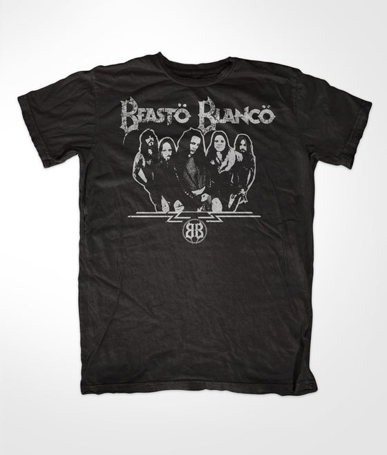 "Image of BEASTO BLANCO - 2015 - ""BAND"" B&W LOGO SHIRT"