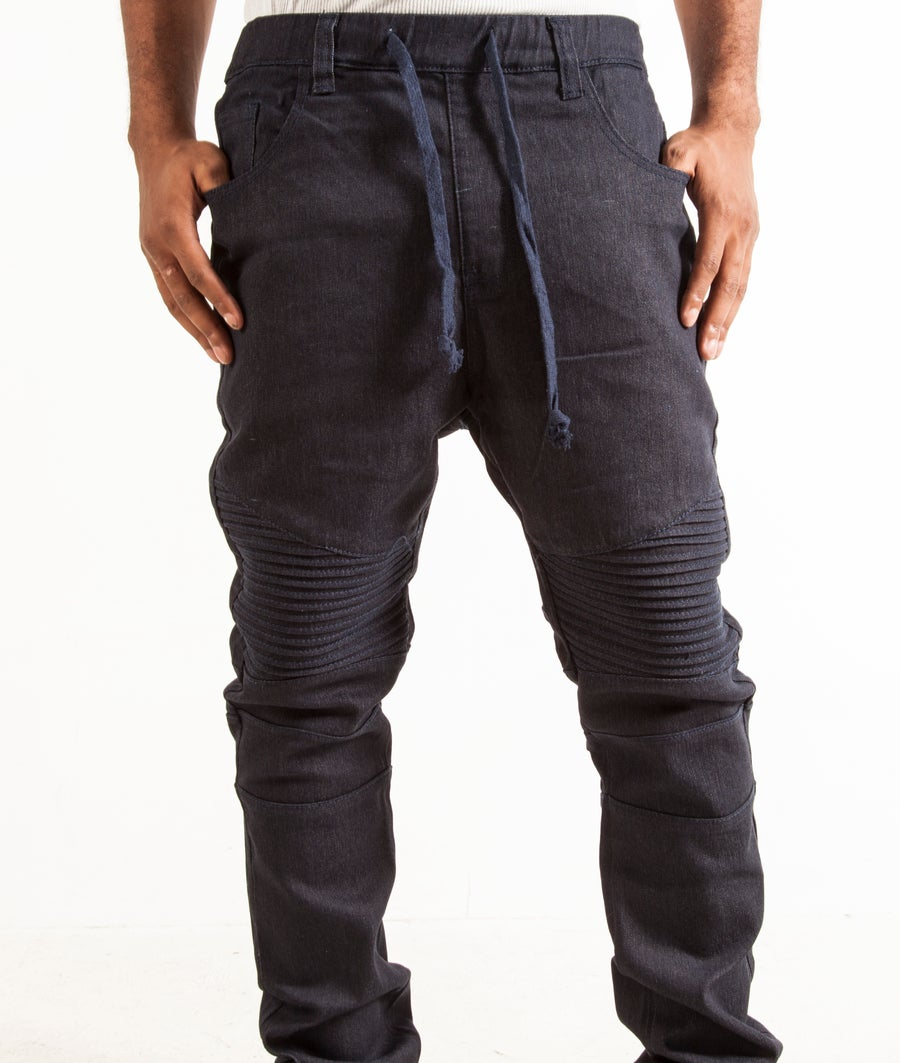 Image of Yay Denim Biker Jogger's