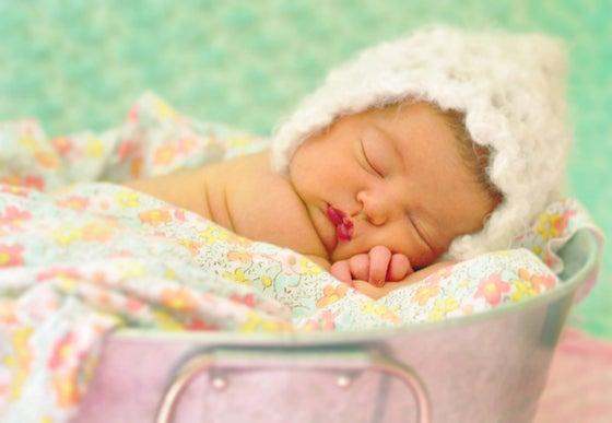 Image of Newborn Hand crocheted Baby hat