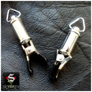 Image of Barrel Weight Nipple Clamps - Pair