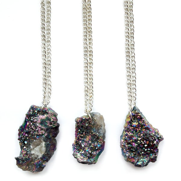 Image of Drusy Titanium Quartz Necklace