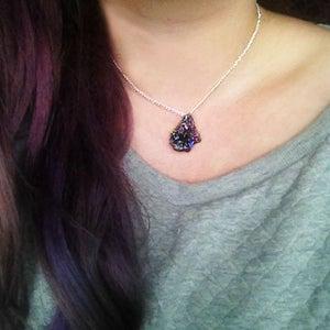 Image of Drusy Titanium Quartz Necklace