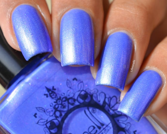 """Image of ~Nitwit~ periwinkle/pink duochrome w/flakies Spell nail polish """"Revenge of the Duds""""!"""