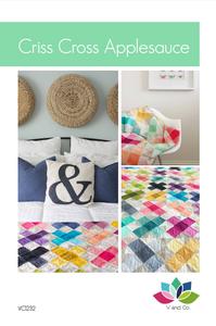 Image of Criss Cross Applesauce Quilt Pattern PDF