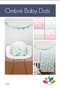 Image of Baby Ombre Dots PDF- Quilt, Pillow, Banner