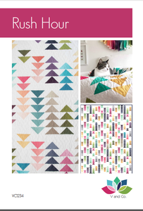 Image of Rush Hour flying geese Quilt Pattern PDF