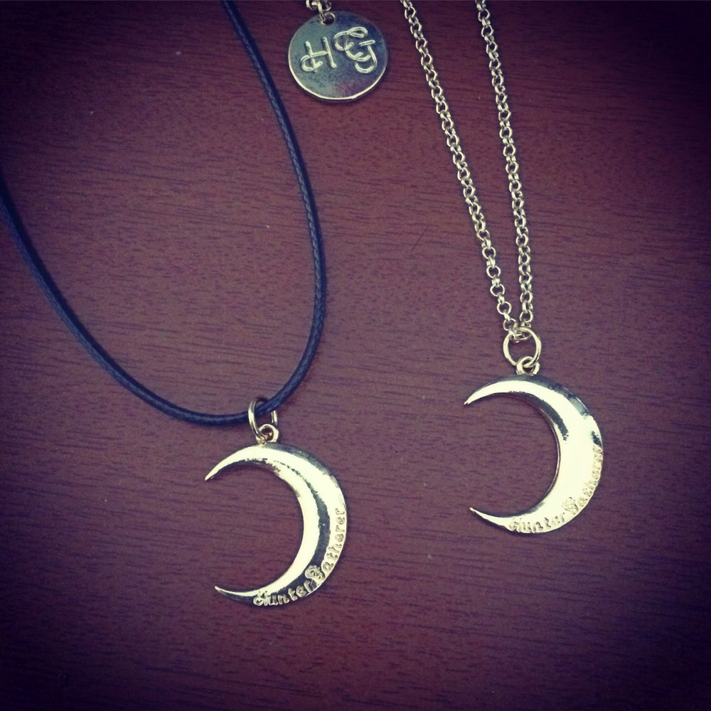 Image of Gold HG moon necklace & choker
