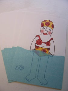 Image of Dam-i-badkort / Postcards, set of 5
