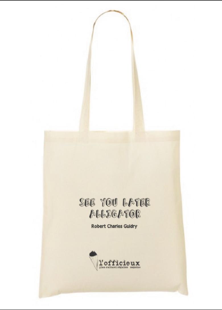 Image of l'officieux tote bag en série très limitée - modèle Robert Charles Guidry