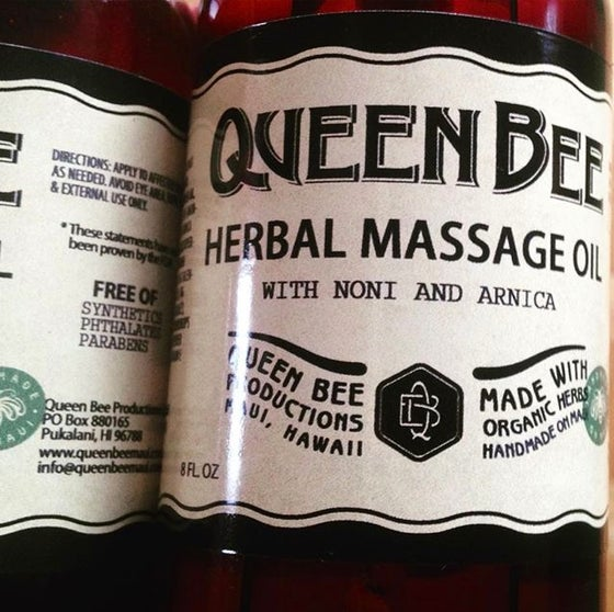 Image of 8 oz Herbal Massage Oil