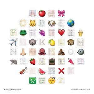 Image of Emoji Alphabet Project print