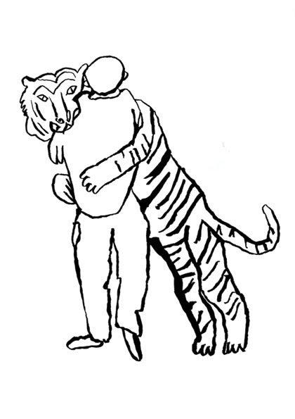 Image of Tiger Hug A2 Screenprint