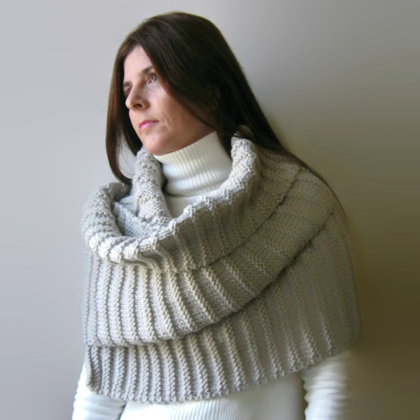 Image of Oversize Scarf Knit in Merino Wool