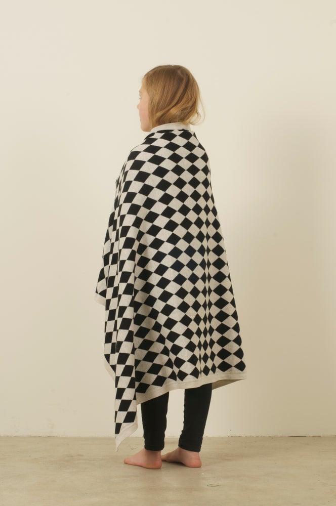 Image of Harlequin Blanket Black White