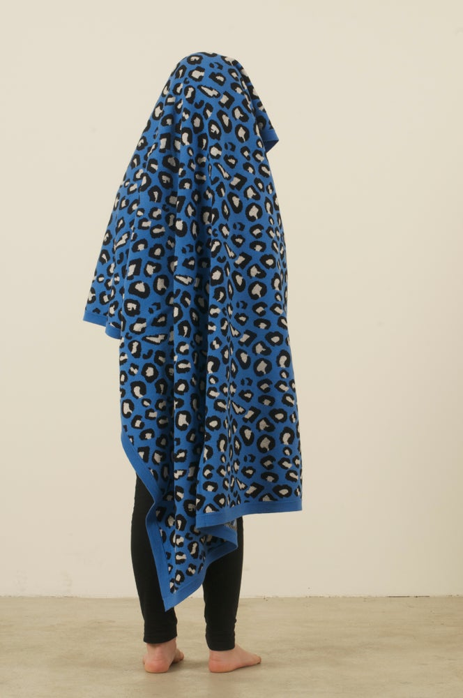 Image of Leopard Blanket Blue