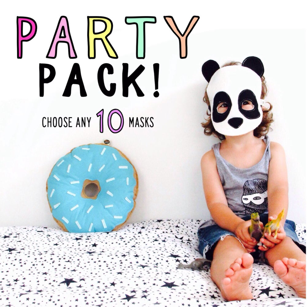 Image of FELT MASK PARTY PACK - choose any 10 masks