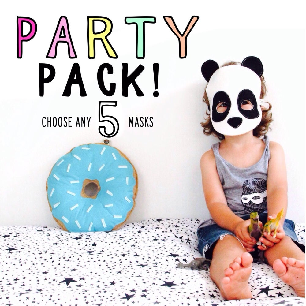 Image of FELT MASK PARTY PACK - choose any 5 masks