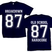 "Image of BREAKDOWN ""87 Old School Hardcore"" Navy Blue T-Shirt"