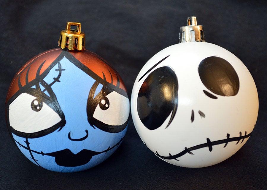 All balls nightmare before christmas ornament set jack - Jack skellington christmas decorations ...