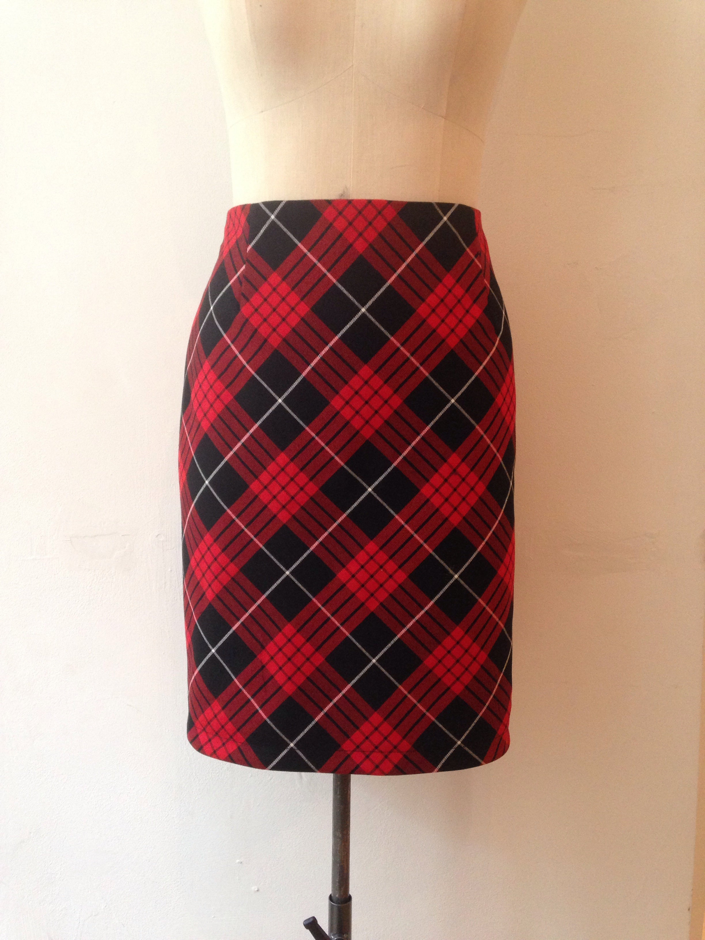 bias cut tartan pencil skirt tottyrocks