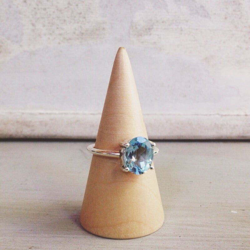 Image of 925 Blue Topaz ring - size 7.25