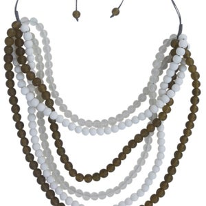 Image of Del Ray Necklace (Olive) by Eb&Ive
