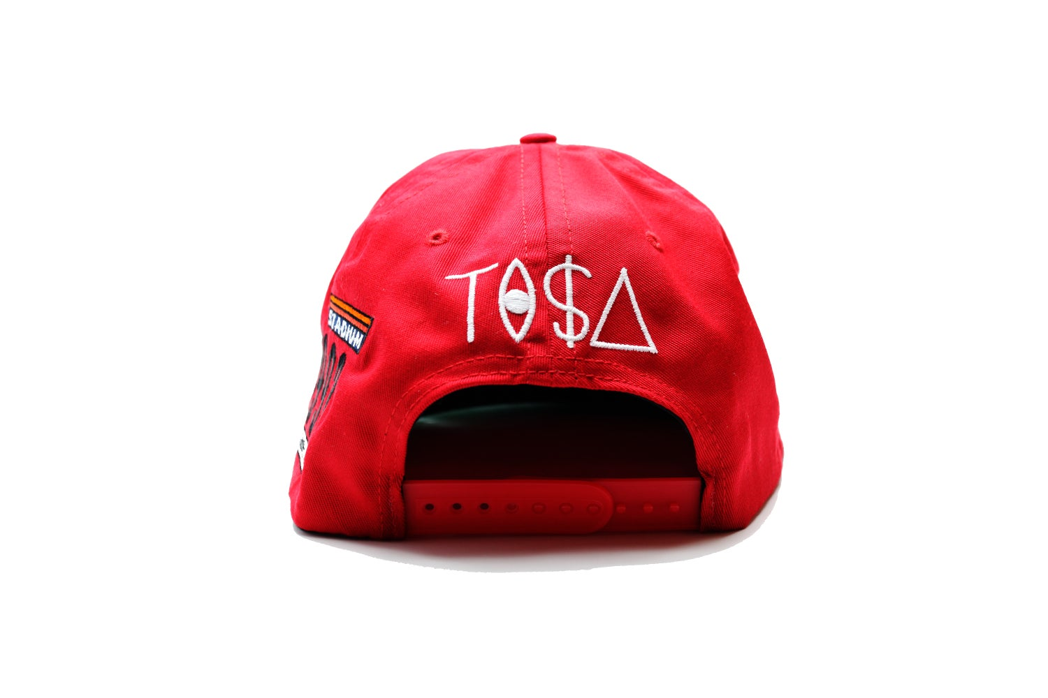 Image of TI$A SHIELD PATCHWORK CAP RED
