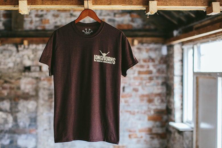 Image of Longhorns Staple Brown T-shirt