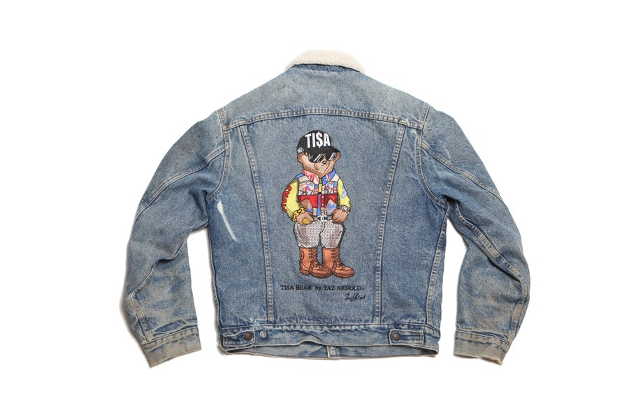 Image of TI$A SNOWBEACH BEAR VINTAGE LEVIS JACKET