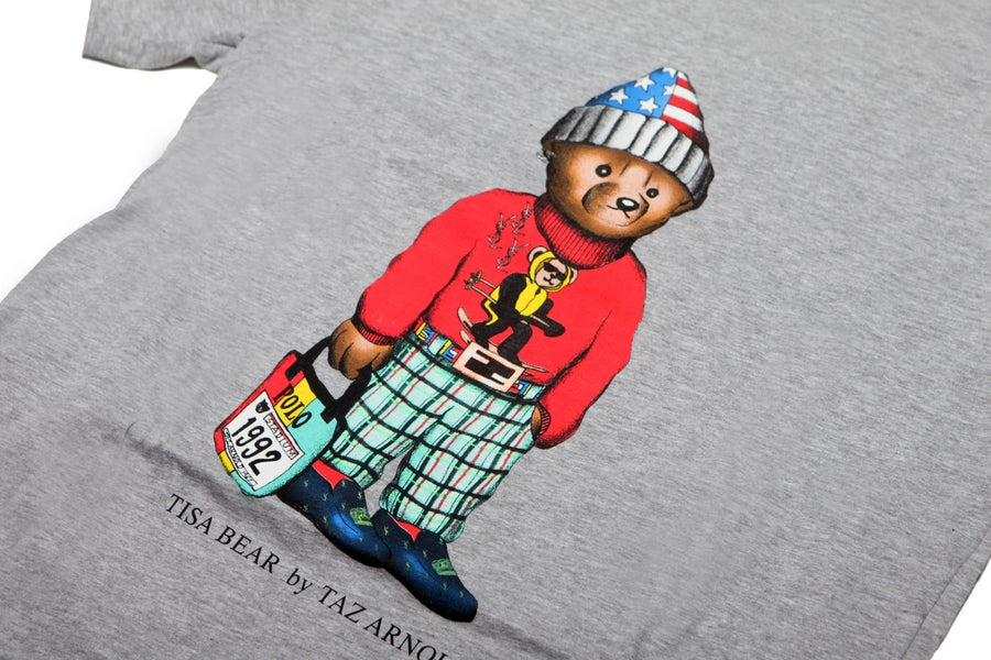 Image of TI$A SKI BEAR T-SHIRT GREY